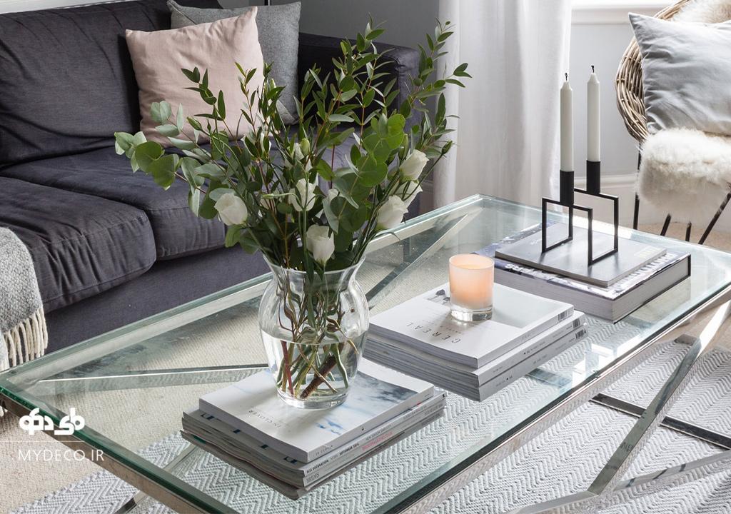 ایده تزئین و چیدمان میز جلو مبلی