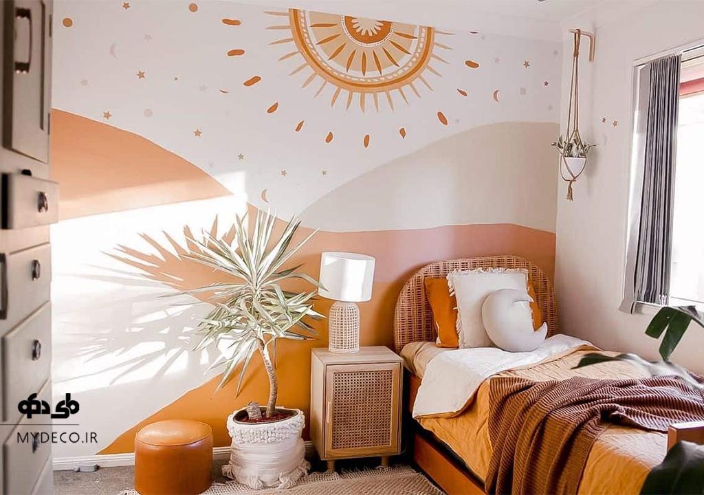ایده خلاقانه رنگ آمیزی دیوار خانه