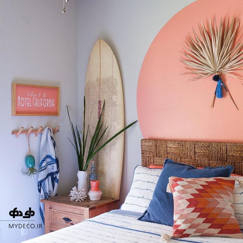 رنگ آمیزی دیوار اتاق خواب