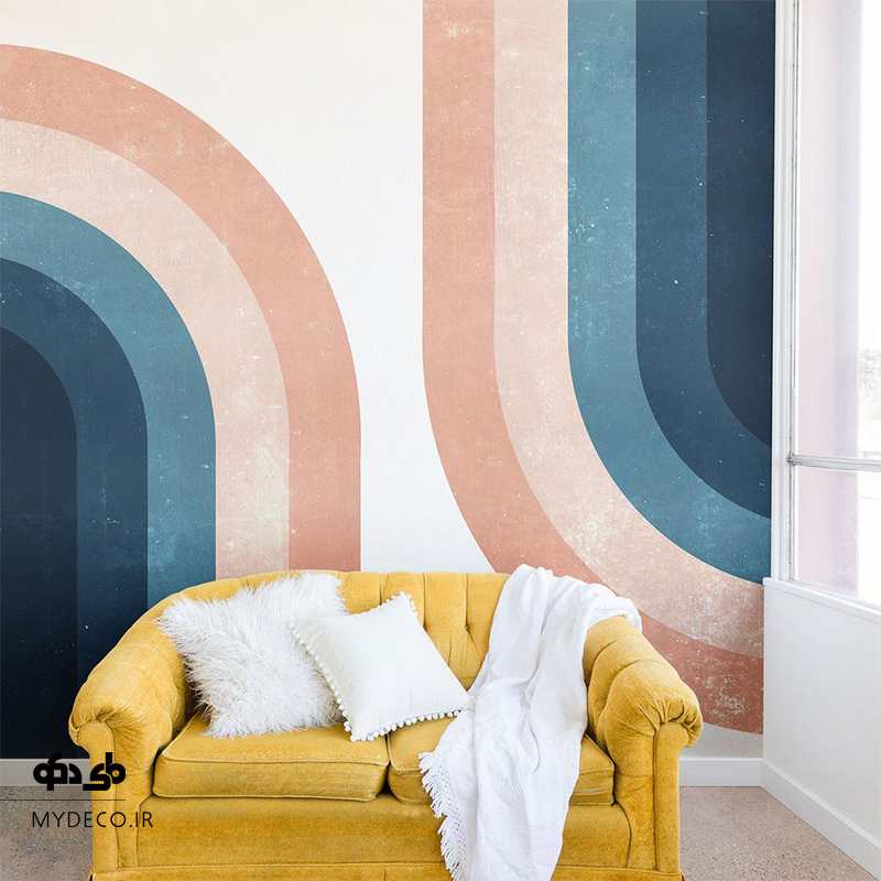 رنگ آمیزی دیوار نشیمن