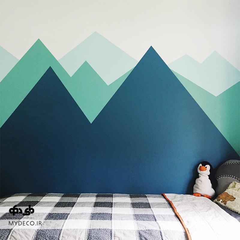 طرح جالب رنگ آمیزی اتاق کودک