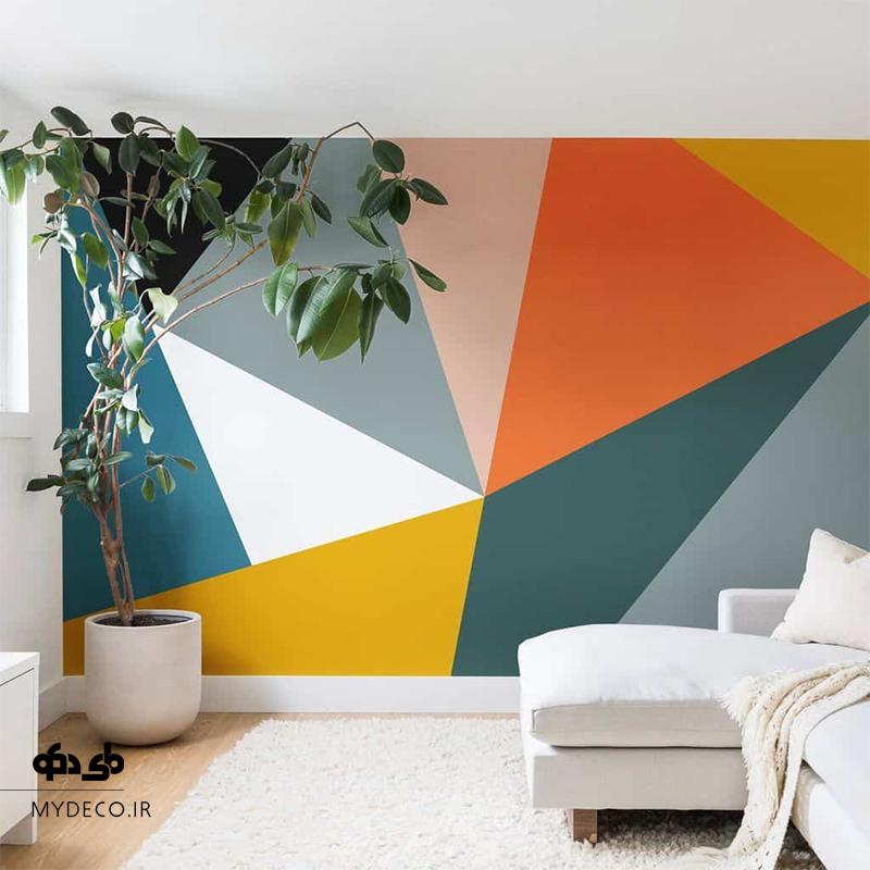 رنگ آمیزی آسان دیوار نشیمن