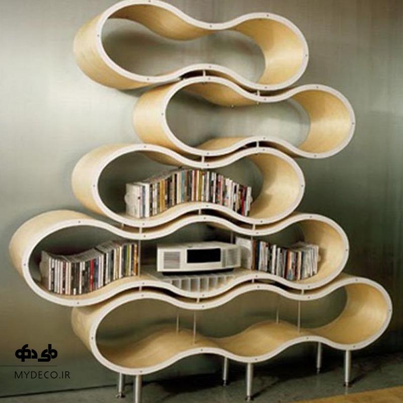 کتابخانه با طرح خاص در نشیمن