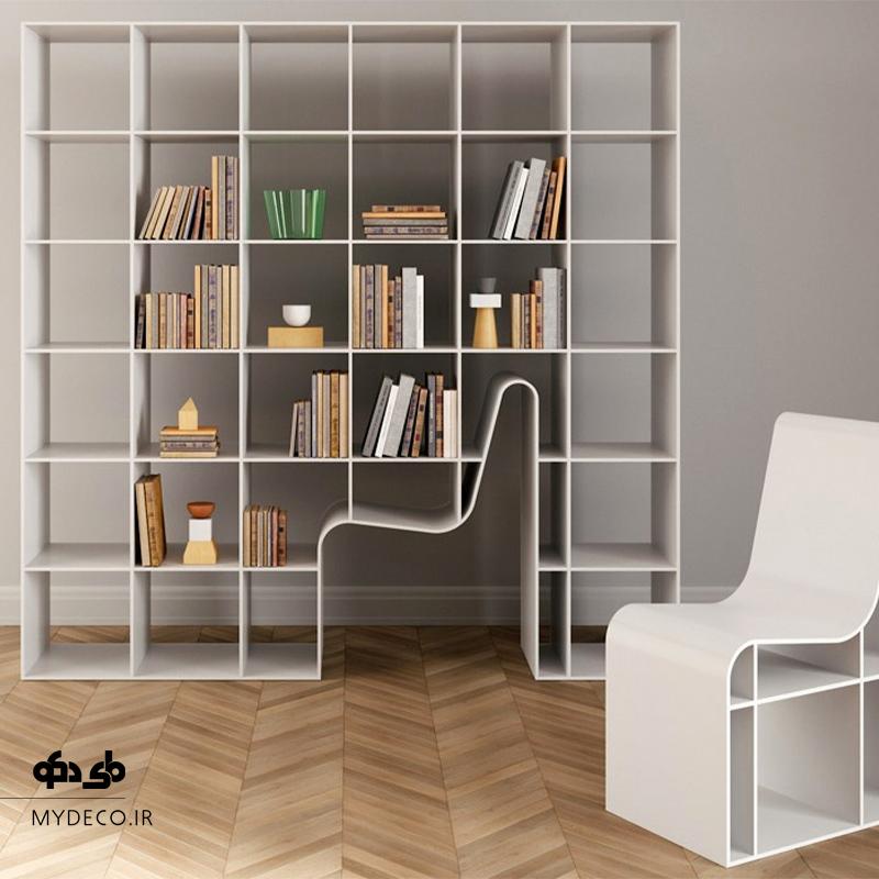 کتابخانه با طراحی خاص