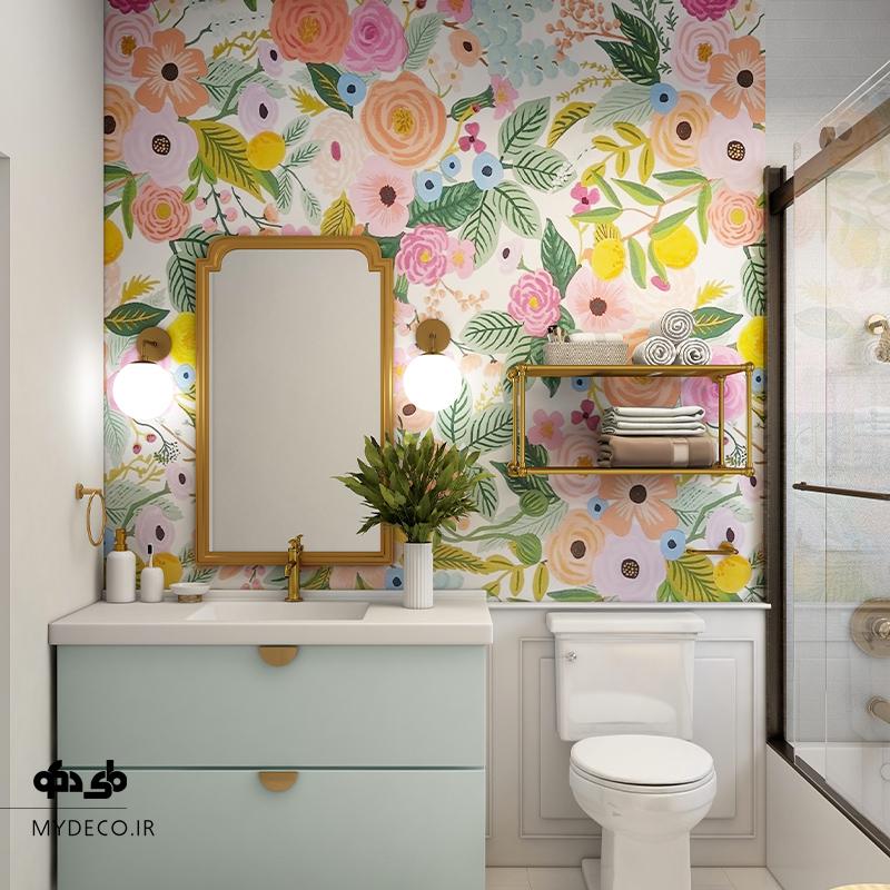 کاغذ دیواری در حمام