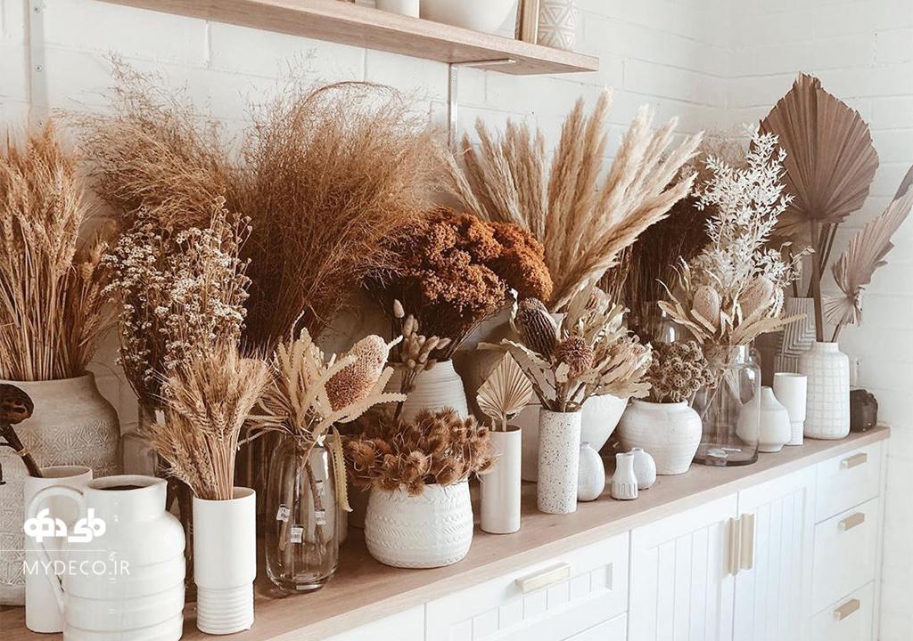 گیاهان خشک در دکوراسیون داخلی