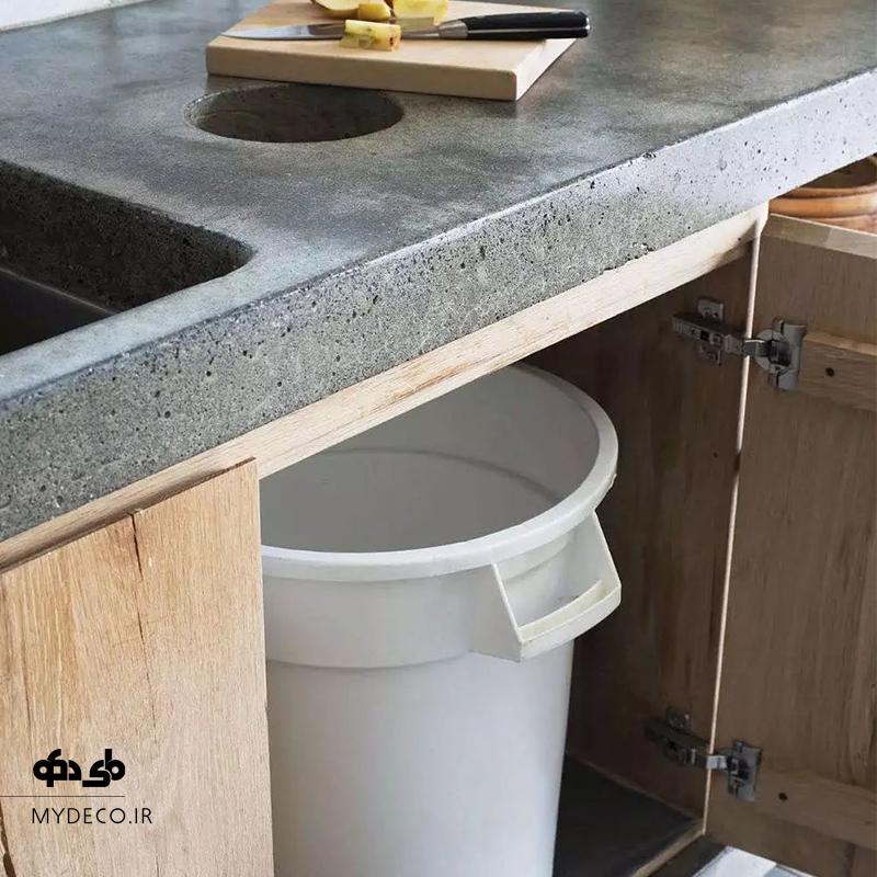 سطل زباله مخفی در آشپزخانه