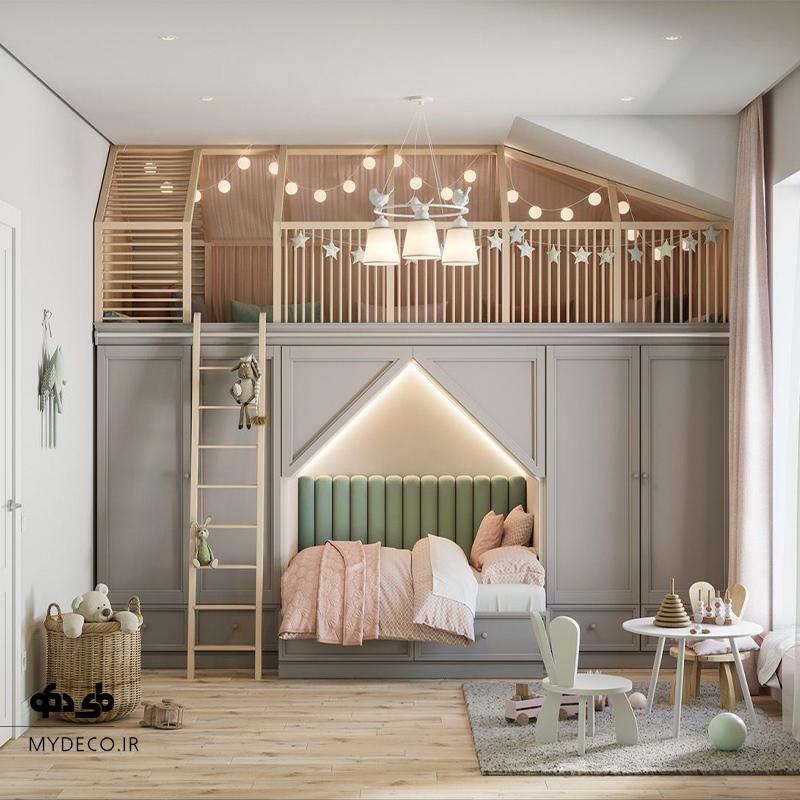 طراحی خلاقانه اتاق دخترانه