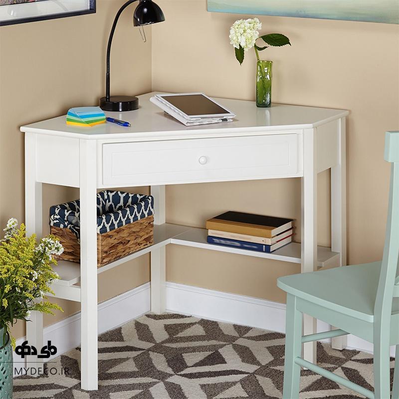 طراحی میز تحریر زیبا برای کنج اتاق