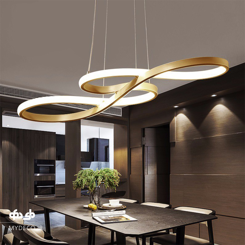 طراحی نورپردازی اتاق غذاخوری