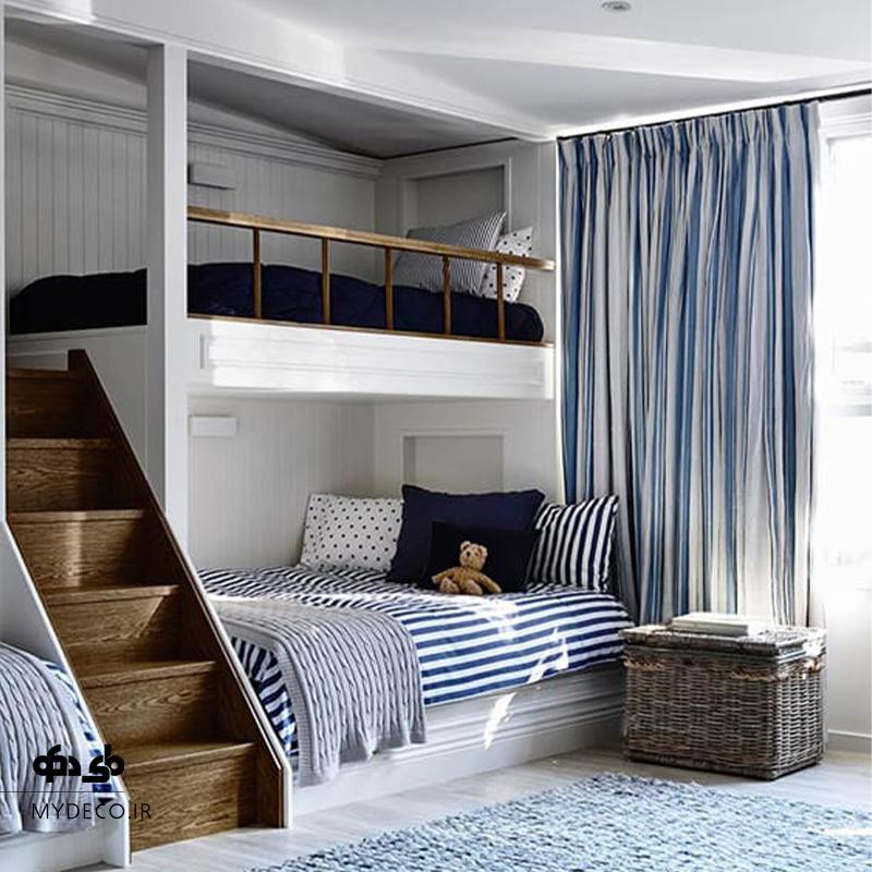 تخت دو طبقه در اتاق