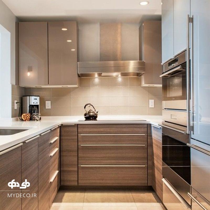 نورپردازی مدرن در آشپزخانه