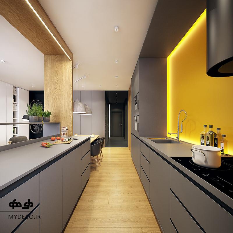 اهمیت نورپردازی در آشپزخانه
