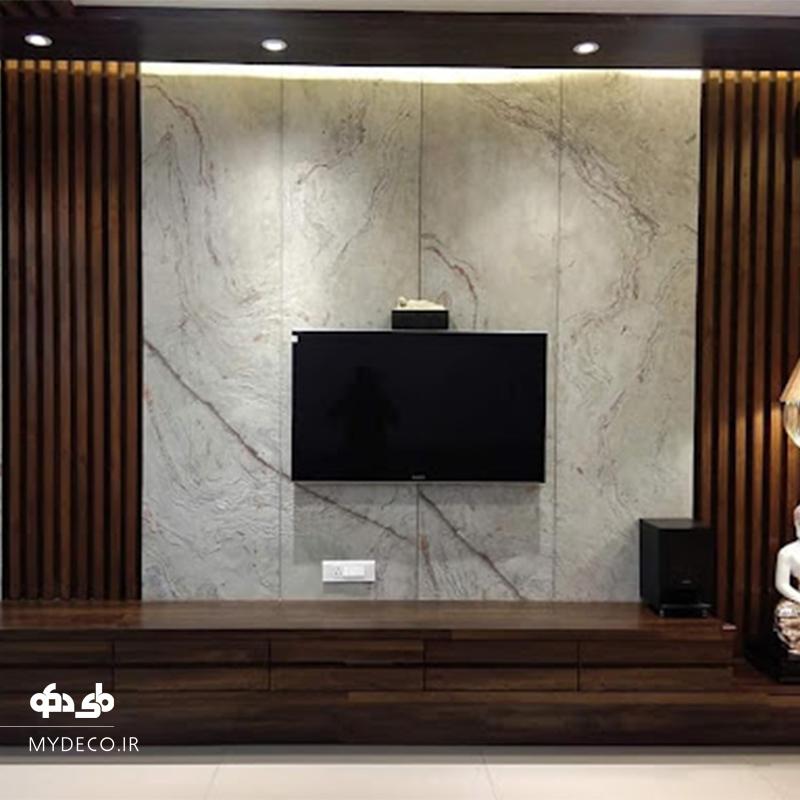 طراحی خاص و مدرن دیوار tv