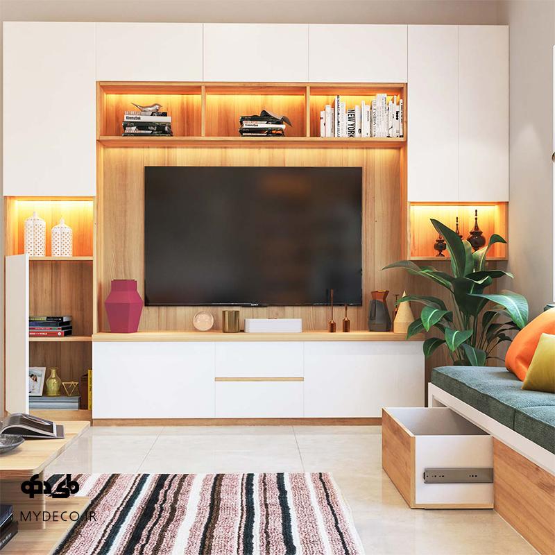دیوار تلویزیون شیک و مدرن