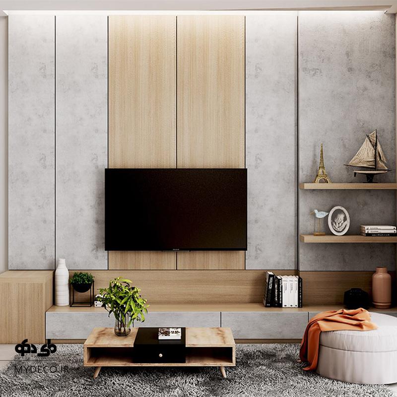 ایده های شیک دیوار پشت تلویزیون